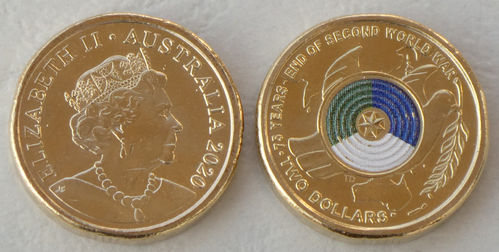Australia 2 Dollars 2020 Lest We Forget coloured coin unc